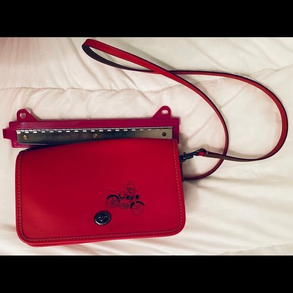 Couch DisneyMickey Calfskin Leather Cross Body Bag